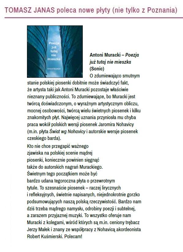 Wspaniały Antoni Muracki - poezja i muzyka UK39